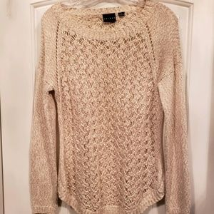 Tribal Offwhite open weave sweater